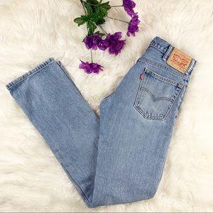 Vintage High Waisted Levi's Light Wash Mom Jeans